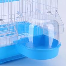 Попугай ванна для птицы пластиковая вода Ванна душевая коробка Ванна для попугая Lovebird птица клетка для домашних животных подвесная миска попугай товары для домашних животных