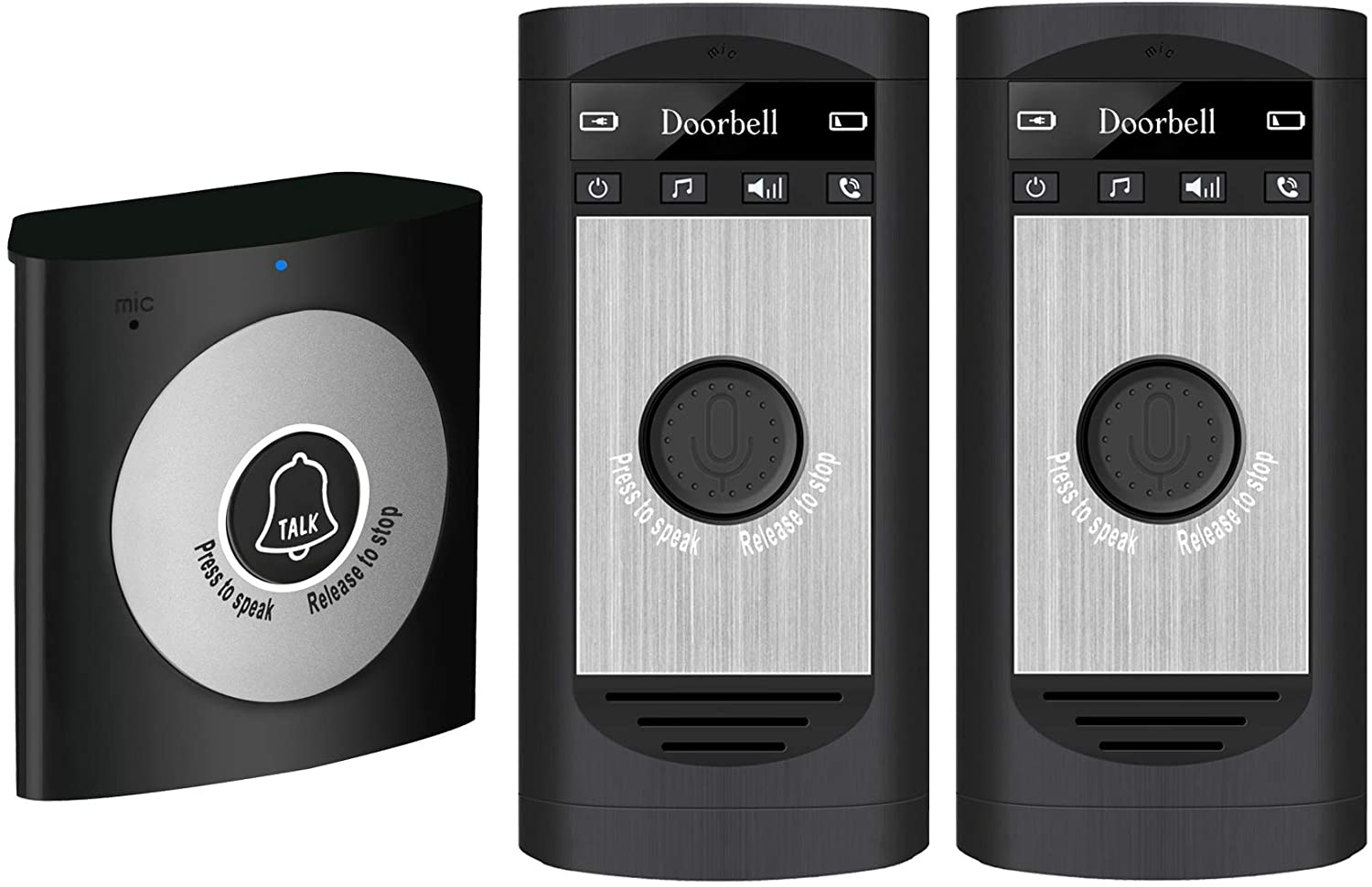 H7a One Transmitter And Two Receivers Home Wireless Doorbell Voice Intercom Two-way Intercom For Home And Office