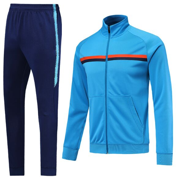 1450 Livel Survetements de foot men 2019/2020 Sky Blue Sport Soccer Tracksuit Training Jacket football track suits 20