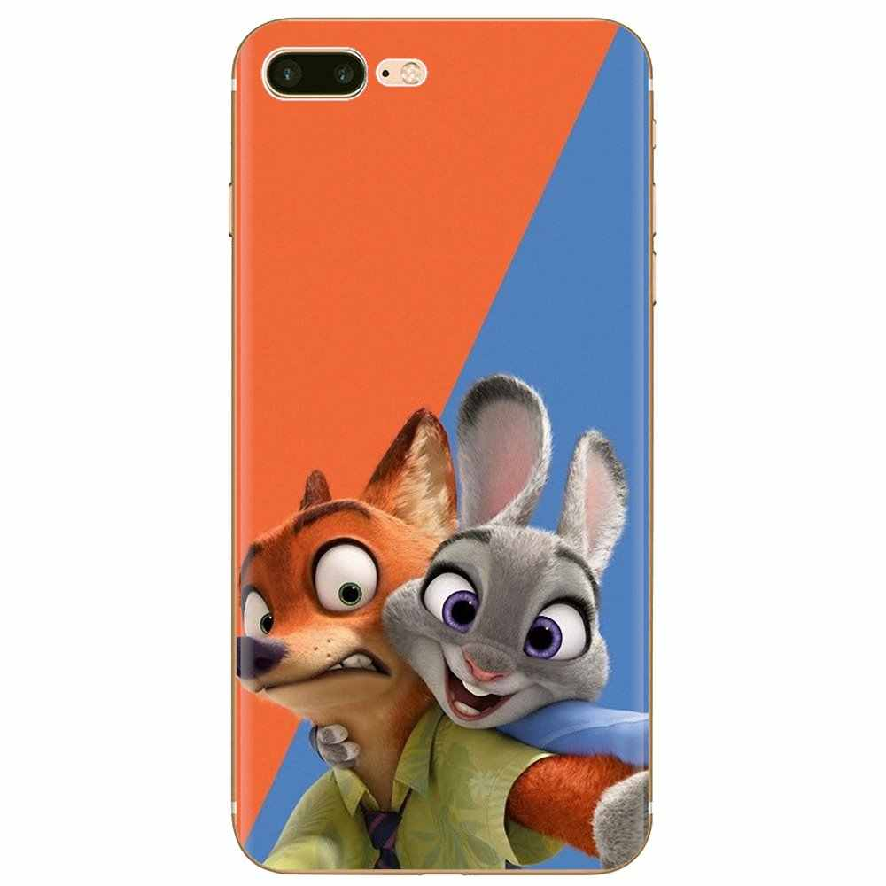 Funda de teléfono de silicona Pastel para Xiaomi Redmi 4A S2 Note 3 3S 4 4X5 Plus 6 7 6A Pro Pocophone F1 nuevo conejo loco de Zootopia