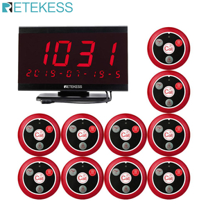 Image 1 - Retekess TD105 999CH Host Receiver+10pcs T117 Call Button Restaurant Pager Waiter Calling System Call Customer Service Cafe