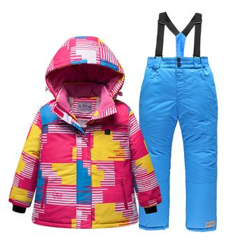 USB podgrzewany dzieci zimowy kombinezon narciarski wodoodporny dzieci Super ciepły płaszcz na śnieg i spodnie snowboardowe zestaw chłopcy dziewczęta kurtka narciarska Cyf292 tanie i dobre opinie Dobrze pasuje do rozmiaru wybierz swój normalny rozmiar Drukuj wodoodporne POLIESTER Outerwear Coats zipper Sport