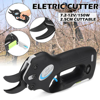 25mm Electric Scissors Rechargeable Cutting Power Pruning Shears Garden Pruner Secateur Branch Cutting Tool Electric Scissors недорого