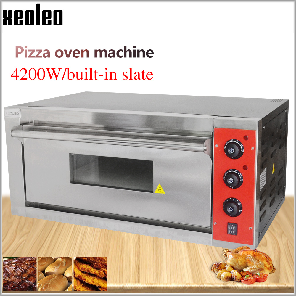 XEOLEO Pizza Oven Machine Bread Oven Electric Baking Oven Commercial Stainless Steel Electric Ovens With Slate 220/380V 4200W