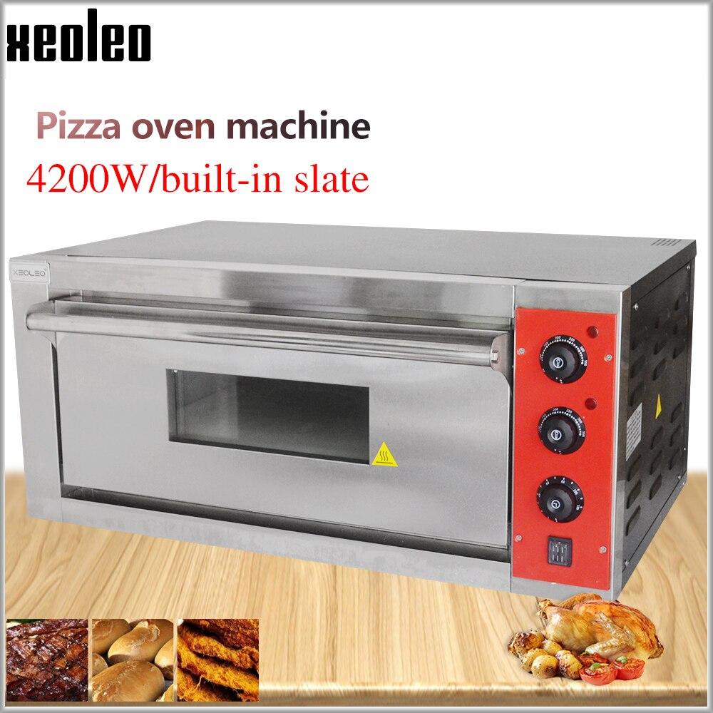 XEOLEO horno de Pizza máquina horno de pan horno eléctrico comercial de acero inoxidable hornos eléctricos con pizarra 220/380V 4200W