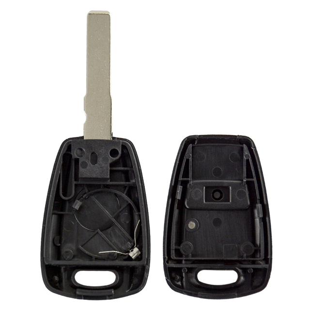 OkeyTech-coque de clé de voiture à 1 bouton | Pour Fiat Punto Doblo Bravo Seicento Stilo, accessoires étui avec support de batterie, lame non coupée