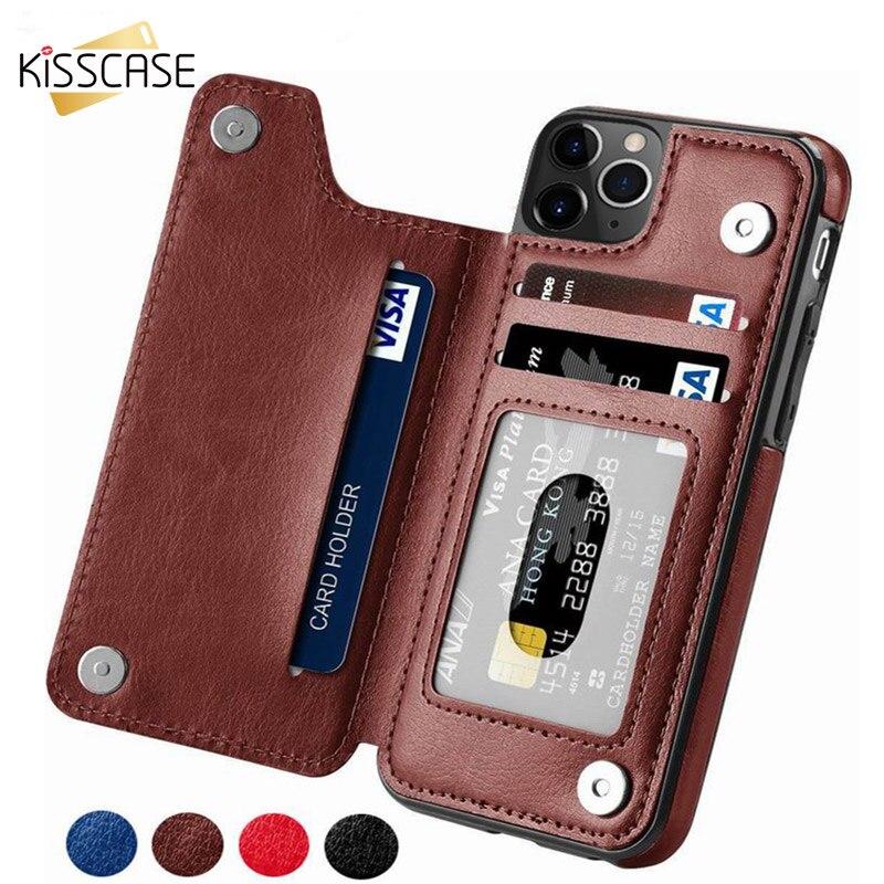 KISSCASE Flip PU Leder Fall Für iPhone X 7 8 6 6S Plus XR XS MAX Vintage Telefon Fällen für iPhone 11 Pro Max 5 5S SE Zurück Abdeckungen