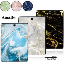 цена на Plastic Marble Pattern Case For Samsung Galaxy Tab A T550 T555 SM-T550 SM-T555 9.7 Inch -Tablet PC Plastic Shell Case Cover