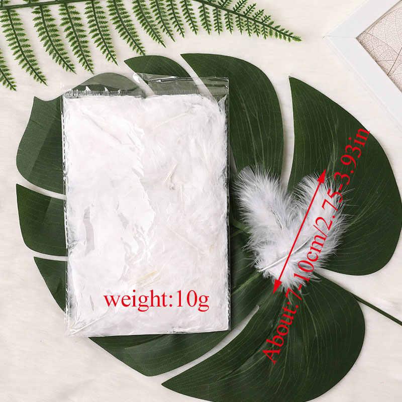 100 pièces 4-6 pouces 7-10CM dinde Marabou plumes moelleux robe de mariée bijoux à bricoler soi-même décoration accessoires décoratifs plumes