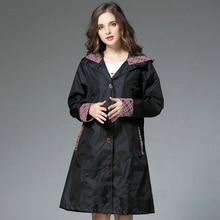 Rain Jacket Women Raincoat Adults Lightweight Poncho Hat Ladies Waterproof Long Slim Coat Windbreaker 60YY051
