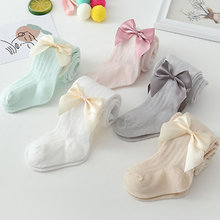 Newborn Baby Leggings Summer Breathable Mesh Leggings Baby Bow Cotton Pantyhose Baby Mosquito-Proof princess Pants Fashion
