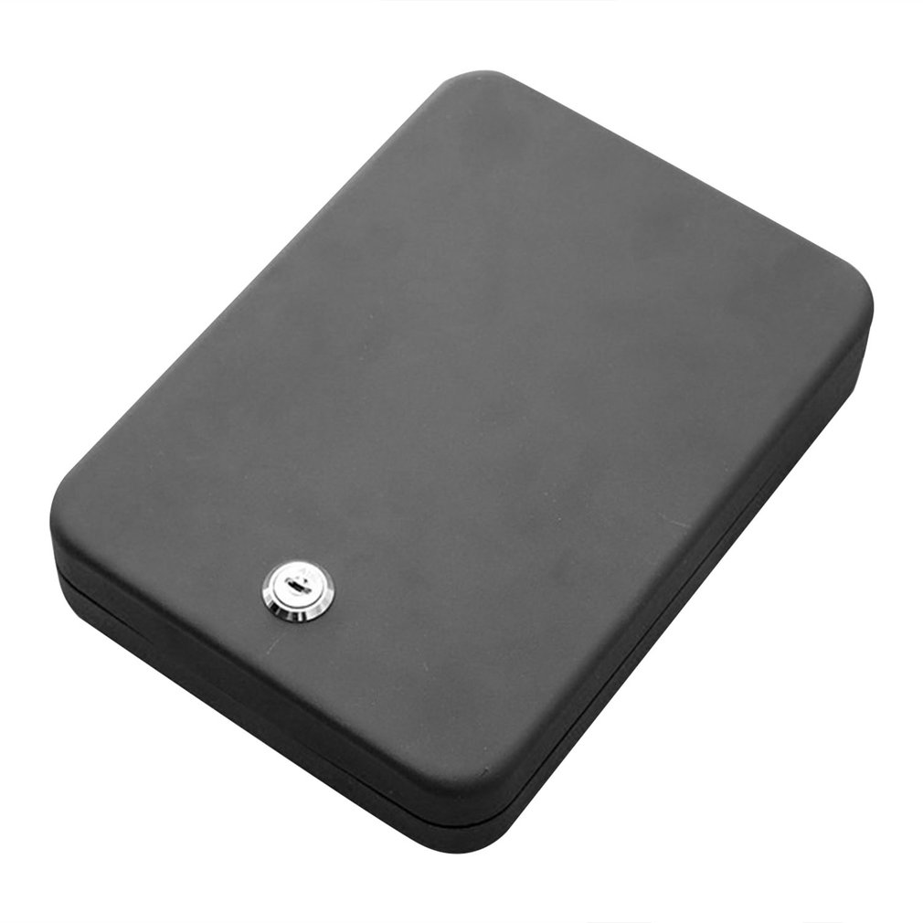 Household Portable Pistol Insurance Box Jewelry Jewelry Cash Anti-Theft Car Insurance Box Anti-Theft Key Case
