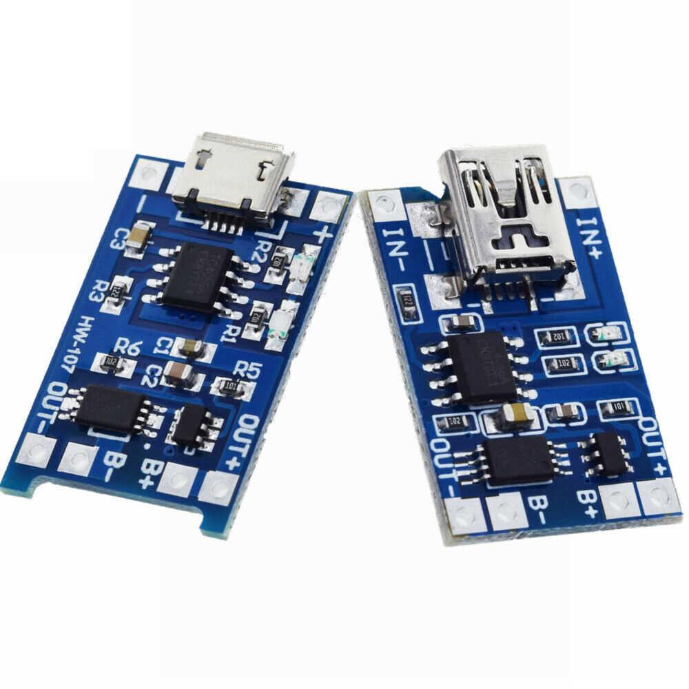 3 stücke Batterie Ladegerät Schutz Bord 5V 1A 2A Li-Ion Lipo Batterie Lade Schützen Modul PCB BMS Micro USB