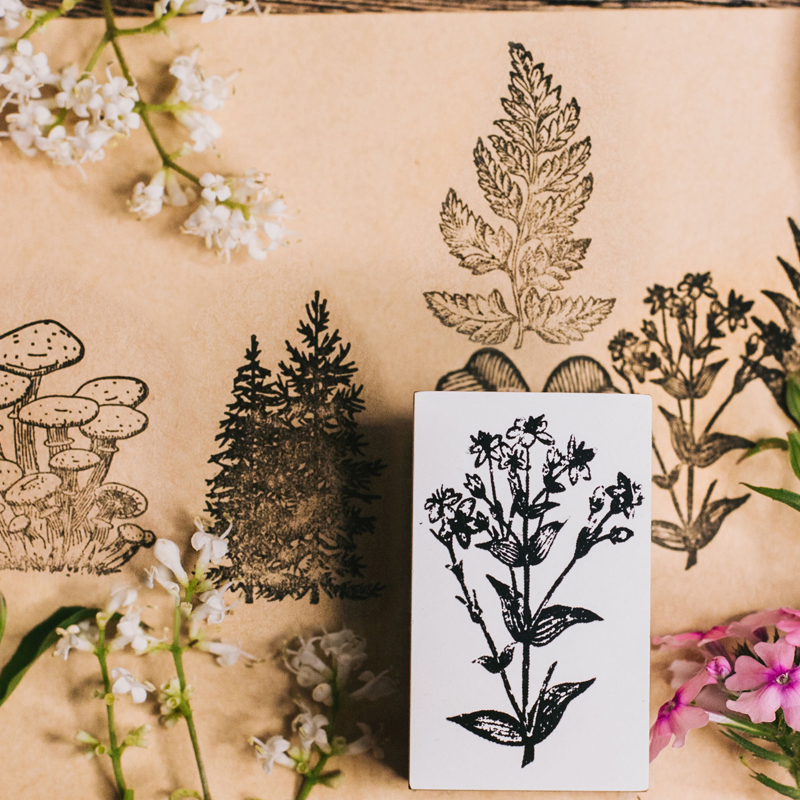 Image 5 - Vintage jungle series stamp DIY wooden rubber stamps for scrapbooking stationery scrapbooking standard stamp-in Stamps from Home & Garden