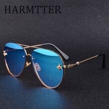 Женские солнцезащитные очки без оправы, роскошные брендовые дизайнерские очки с градиентными линзами и пчелиной линзой, UV400