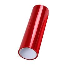 30*152 см Красный Автомобильный головной светильник задняя фара туман светильник противотуманный светильник виниловая пленка Тонировочная п...
