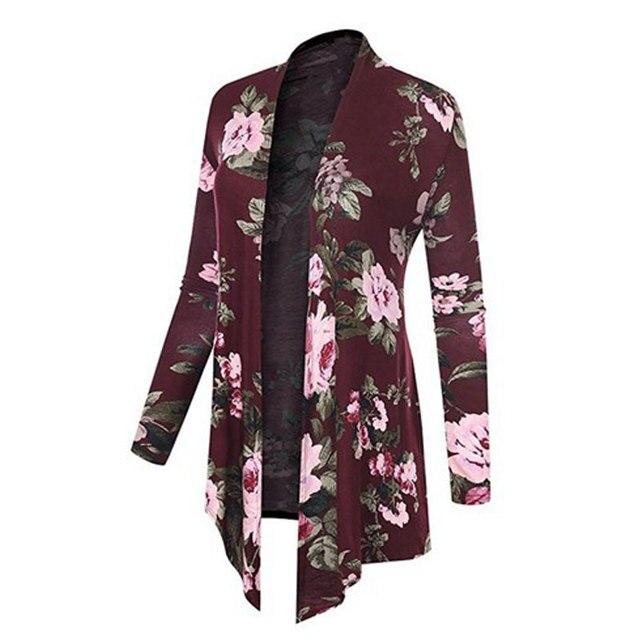 Grande taille été Cardigan coupe ample minceur manteau châle en mousseline de soie chemise imprimé irrégulière hauts fleur plage manteau