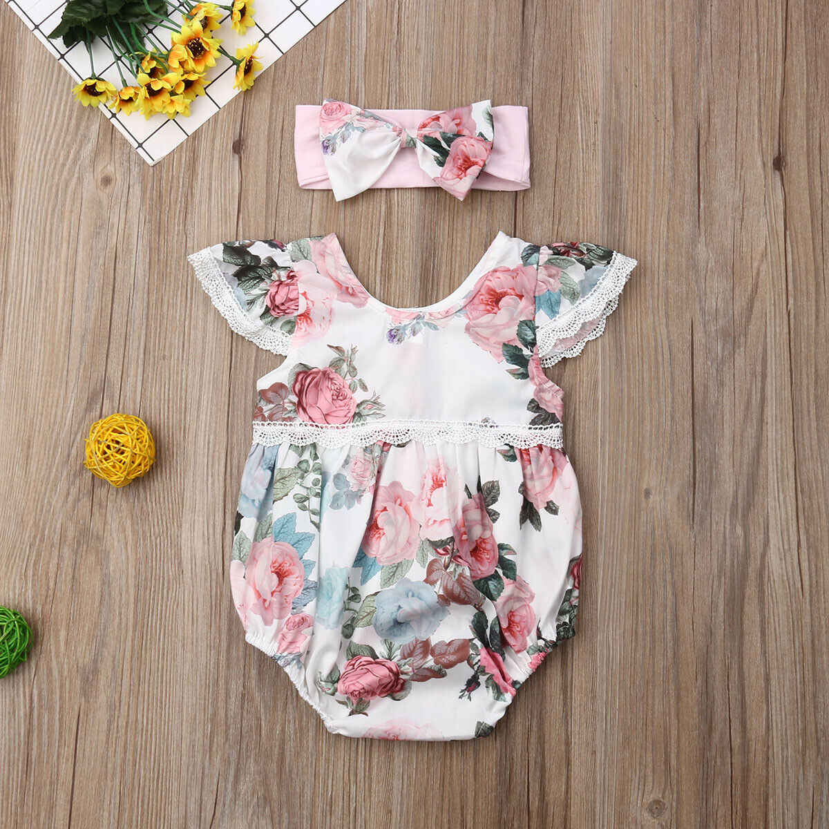 Infant Baby Strampler Body Overall Overall Kleidung Outfit Stirnband