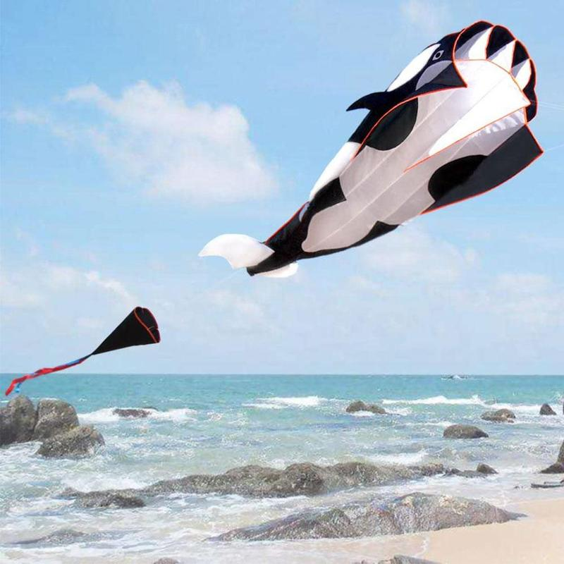 3d Cartoon Whale Software Kite Polyester Outdoor Kites Flying Toys For Children Professional Power With Control Bar And Line image