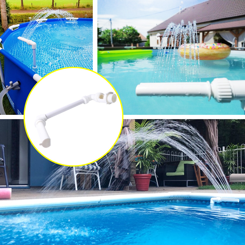 US $12.37 49% OFF|Swimming Pool Waterfall Fountain Kit PVC Feature Water  Spay Pools Spa Decorations Swimming Pool Accessories-in Pool & Accessories  ...