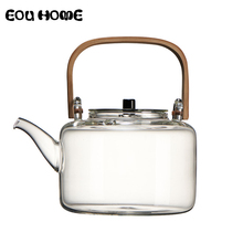 1100ml Glass Teapots Heat resistant Explosion proof Boiled Teapot Kung Fu Tea Set Boiled Water Special Bamboo Handle Beam Pot