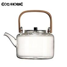 1100ml szklane czajniki żaroodporne przeciwwybuchowe gotowane czajniczek zestaw do herbaty Kung Fu przegotowana woda specjalny uchwyt bambusowy Beam Pot