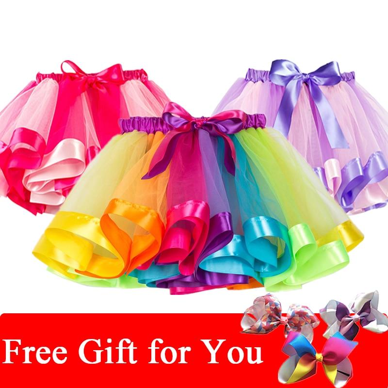 2020 Summer Colorful Pettiskirt Children Party Girls Skirt Kids Birthday Mini Tutu Skirt Toddler Girls Unicorn Skirt Clothing