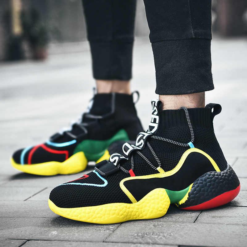 Năm 2019 Nam Giày Giày Slip On Thoáng Khí Bán Đệm Không Khí Giữ Ấm Giày Nam Độn Ngoài Trời Căn Hộ giày