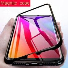 Магнитная Адсорбция металлический чехол для samsung Galaxy S8 S9 S10 плюс S7 Edge Note 10 Plus Note 8 9 M20 A30 A50 A70 A7 A8 J4 J6 плюс