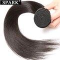 Бразильские прямые человеческие волосы для наращивания Spark 1B, натуральный черный цвет, 100% натуральные кудрявые пучки волос 8-26 дюймов, волос...