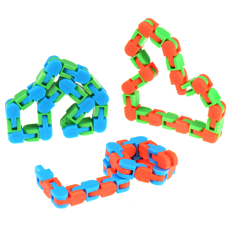 Sensory Toy Fidget-Toys Puzzles Autism Wacky Tracks Snake Snap Random-Color Kids Classic img2