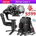 Zhiyun Crane 3 LAB 3-осевой ручной карданный стабилизатор для DSLR Canon Nikon Panasonic камер, беспроводная передача изображения ViaTouch