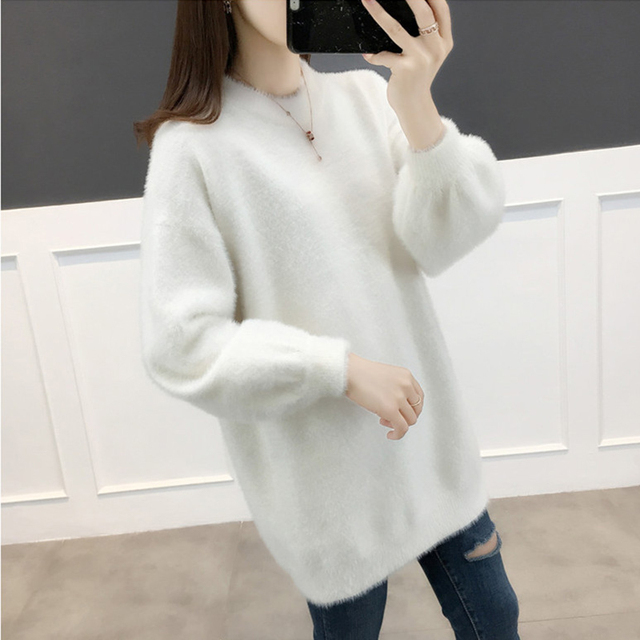 Ailegogo Women Sweater Spring Autumn Casual O Neck Knitted Pullovers Korean Style Long Sleeve Knitwear Female Tops 2