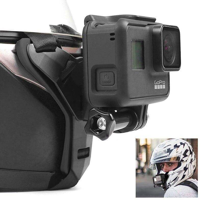 Мотоцикл снимки полный шлем подбородка стенд держатель для мобильного телефона для GoPro Hero8/7/6 спортивной экшн камеры Xiaomi Yi 4K sjcam SJ8/9 экшн Камера аксессуары Чехлы для экшн-камер      АлиЭкспресс