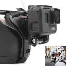 Motosiklet çekim tam yüz kask çene standı dağı tutucu GoPro Hero8/7/6 Xiaomi Yi 4K sjcam SJ8/9 eylem kamera aksesuarları