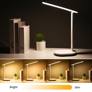 Image 5 - Kademesiz kısılabilir masa okuma lambası katlanabilir dönebilen dokunmatik anahtarı LED masa lambası USB şarj aleti şarj edilebilir pil gece lambası