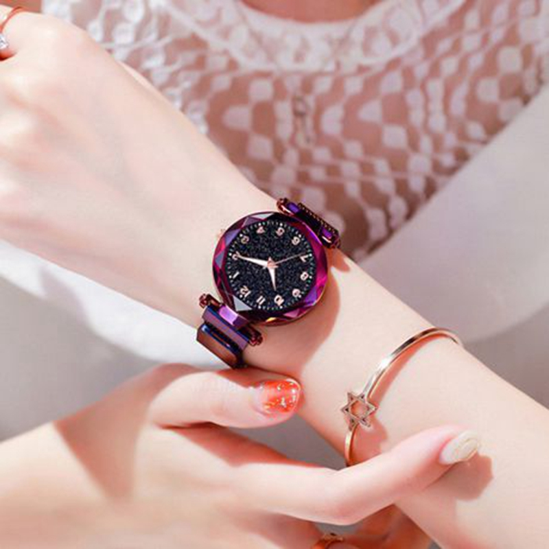 Luminous Watch  Women Watches Fashion Elegant Magnet Buckle Mysterious Wristwatch Starry Sky Clock For Girlfriend Dropshipping 3