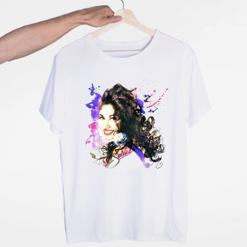 Selena Quintanilla T Shirts Fashion Men And Women Tops T-shirt Short Sleeve Unisex Tshirt