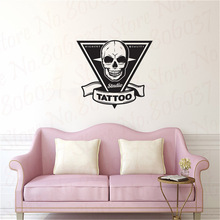 Tattoo Salon Wall Decal Shop Sign Logo Poster Studio Design Door Window Vinyl Sticker Mural  Decor Art WL1972