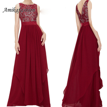 Women Summer Sexy Backless Lace Party Long Dress Sleeveless Red Black Maxi Dress  Ladies Elegant Party Dresses Plus Size 2xl YXB цена