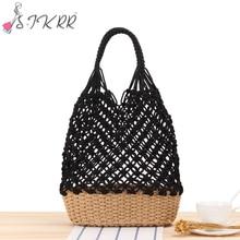 S.IKRR Womens Bag 2020 Bohemian Big Capacity Women Tote Straw Bags Hollow Out Rattan Rope Handbags Beach Holiday