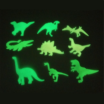 Creative Luminous dinosaur wall stickers glow in the dar cartoon dino toys decorative wall Pegatina children bedroom wallpaper image