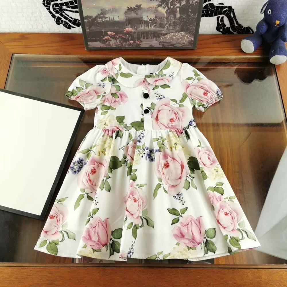 High-end girls spring and summer new princess  rose sleeveless dress