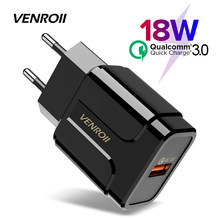 Venroii Universele 18W USB Snel Opladen 3.0 voor iPhone X 8 EU US Plug Mobiele Telefoon Fast Charger Opladen voor Xiaomi Huawei Honor(China)