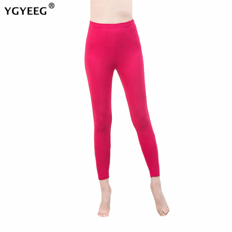 YGYEEG Black Legging Push Up Shiny S-3XL Size Women Shiny Legging Autumn Ladies Leggings High Waist Stretchy Soft Women Legging