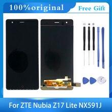 """Frete grátis para 5.5 """"zte nubia z17 lite nx591j display lcd tela de toque digitador assembléia vidro + ferramentas"""