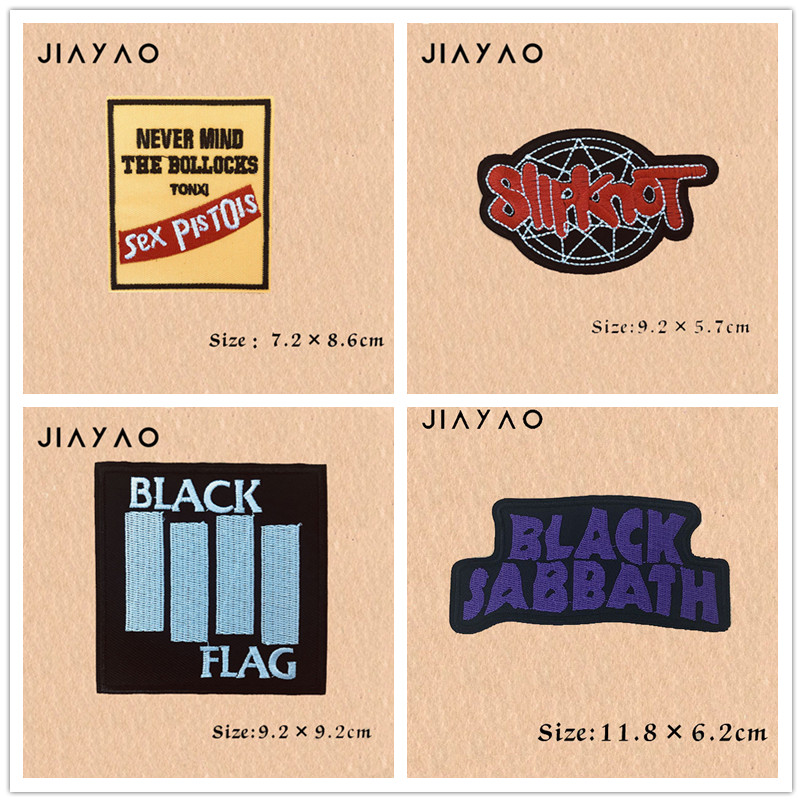 Купить с кэшбэком Embroidered patch rock band heavy metal band banner hot stickers badge sewing lron on clothing stickers accessories  patches