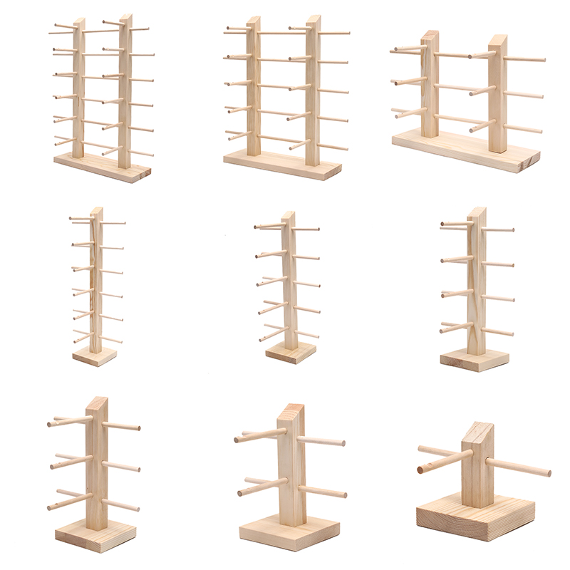 9 Sizes Natural Wood Sun Glasses Eyeglasses Display Rack Stands Shelf Multi Layers Glasses Display Show Stand Holder