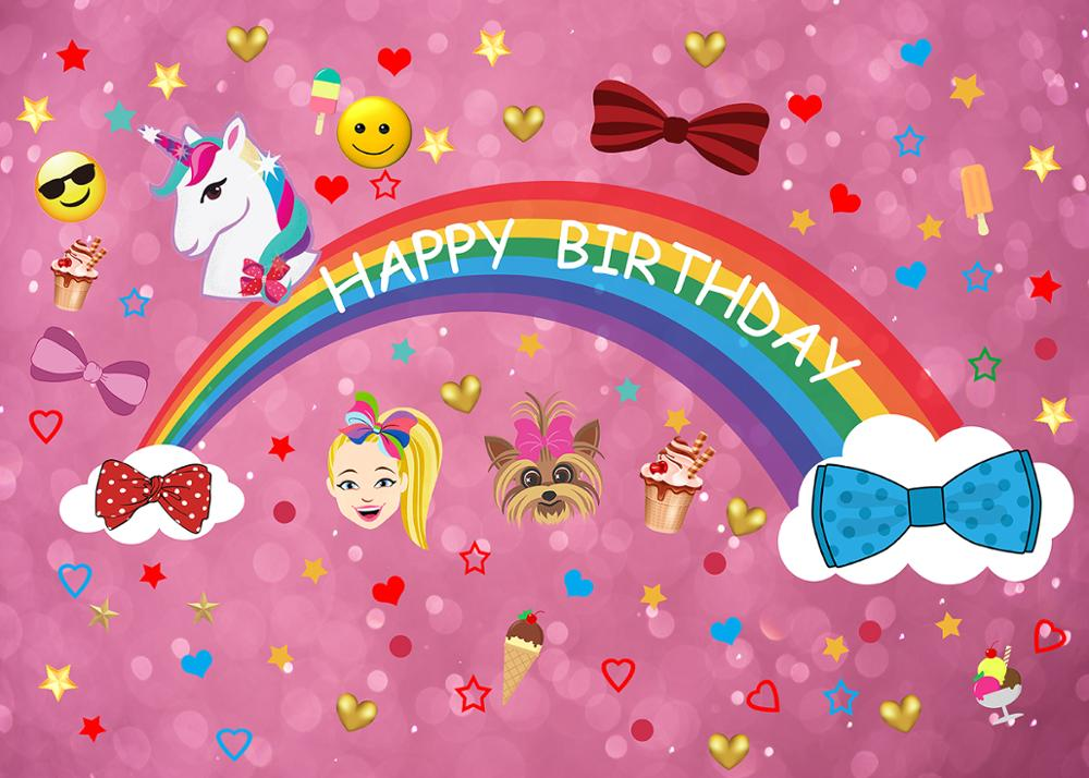 Capisco Colorful Unicorn Photography Background Birthday Party Puppy Girl Glitter Rainbow Baby Shower Photo backdrop Booth prop in Background from Consumer Electronics