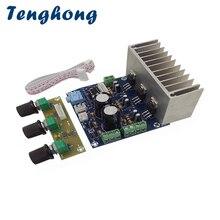 Placa amplificadora de som tenghong tda2030a, subwoofer de 20w * 2 + 30w 2.1, estante de som e alto falante com placa pré amplificadora